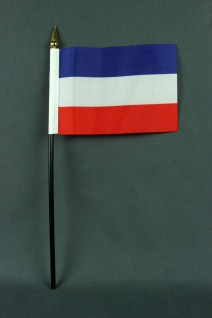 Kleine Tischflagge Jugoslawien 10x15 cm optional mit Tischfähnchenständer