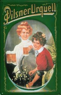 Blechschild Pilsner Urquell Bier Pilsen Schild retro Nostalgie Werbeschild