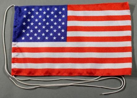 Tischflagge USA 25x15 cm optional mit Holz- oder Chromständer Tischfahne Tisc...