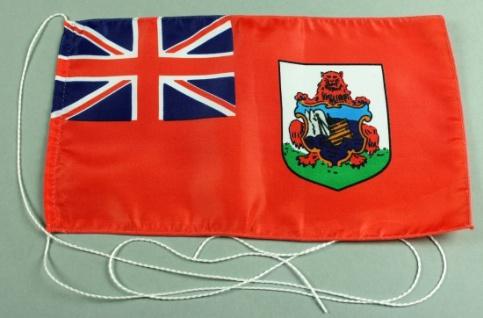 Tischflagge Bermudas 25x15 cm optional mit Holz- oder Chromständer Tischfahne...
