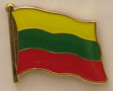 Pin Anstecker Flagge Fahne Litauen Nationalflagge