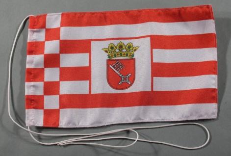 Tischflagge Bremen 25x15 cm optional mit Holz- oder Chromständer Tischfahne T...