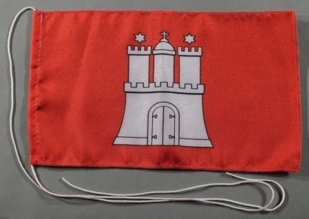 Tischflagge Hamburg 25x15 cm optional mit Holz- oder Chromständer Tischfahne ...