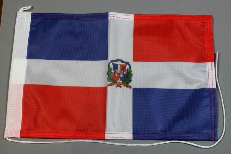 Bootsflagge : Dominikanische Republik 30x20 cm Motorradflagge