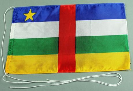 Tischflagge Zentralafrikanische Republik 25x15 cm optional mit Holz- oder Chr...