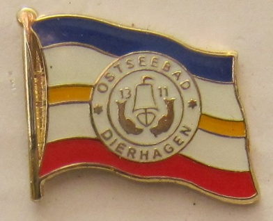 Pin Anstecker Flagge Fahne Dierhagen Ostsee Stadtflagge Flaggenpin Button Bad...