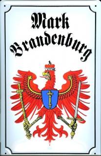 Blechschild Nostalgieschild Mark Brandenburg Adler Wappen