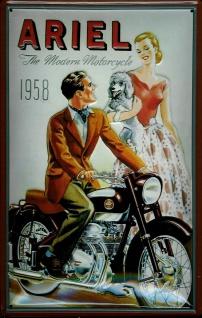 Blechschild Ariel 1958 Motorrad Nostalgieschild Schild
