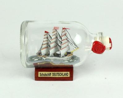 Schulschiff Deutschland Mini Buddelschiff 50 ml ca. 7, 2 x 4, 5 cm Flaschenschiff