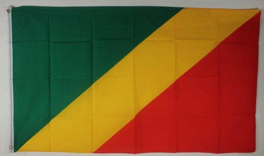 Flagge Fahne : Kongo Brazaville Nationalflagge Nationalfahne