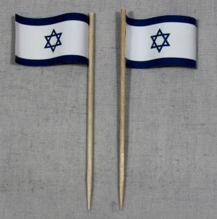 Party-Picker Flagge Israel Papierfähnchen in Spitzenqualität 50 Stück Beutel
