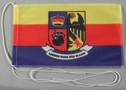 Tischflagge Nordfriesland Nord Friesland 25x15 cm optional mit Holz- oder Chr...