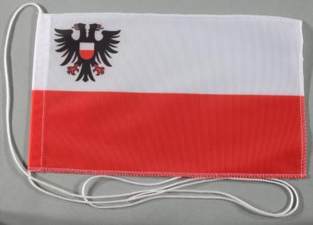 Tischflagge Lübeck Stadtflagge 25x15 cm optional mit Holz- oder Chromständer ...