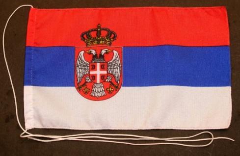 Tischflagge Serbien 25x15 cm optional mit Holz- oder Chromständer Tischfahne ...