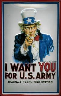 Blechschild Nostalgieschild I want you for US Army Uncle Sam USA
