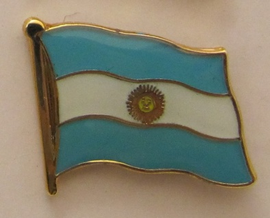 Argentinien Pin Anstecker Flagge Fahne Nationalflagge