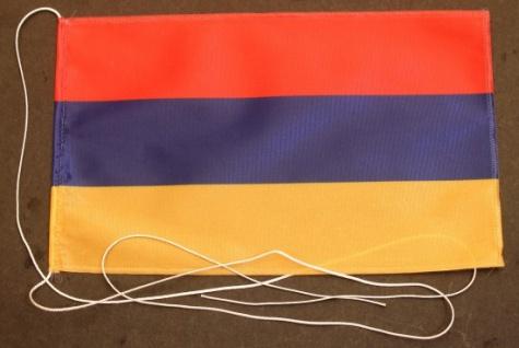 Tischflagge Armenien 25x15 cm optional mit Holz- oder Chromständer Tischfahne...