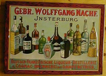 Blechschild Gebr. Wolfgang Insterburg Cognac Schild retro Werbeschild - Vorschau