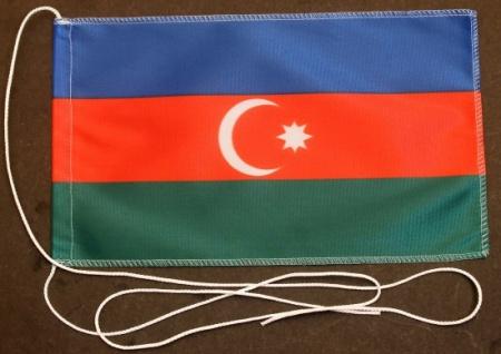 Tischflagge Aserbaidschan 25x15 cm optional mit Holz- oder Chromständer Tisch...