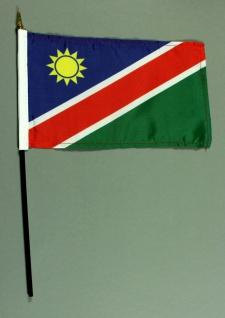 Tischflagge Namibia 15x25 cm BASIC optional mit Tischflaggenständer