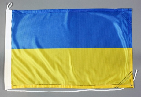 Bootsflagge Ukraine 30x45 cm Motorradflagge Bootsfahne