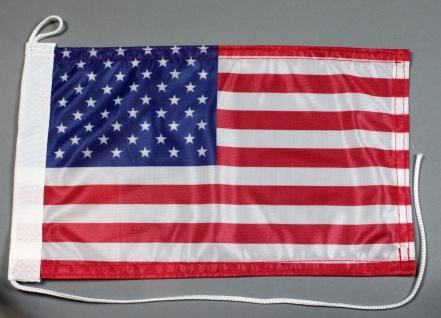 Bootsflagge : USA Amerika 30x20 cm Motorradflagge - Vorschau