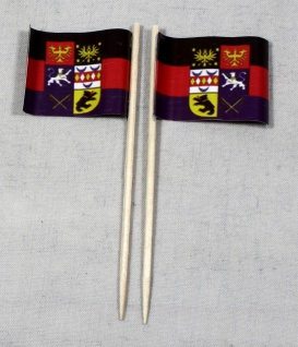 Party-Picker Flagge Ostfriesland Papierfähnchen in Spitzenqualität 50 Stück B...