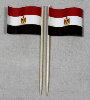 Party-Picker Flagge Ägypten Papierfähnchen in Spitzenqualität 50 Stück Beutel
