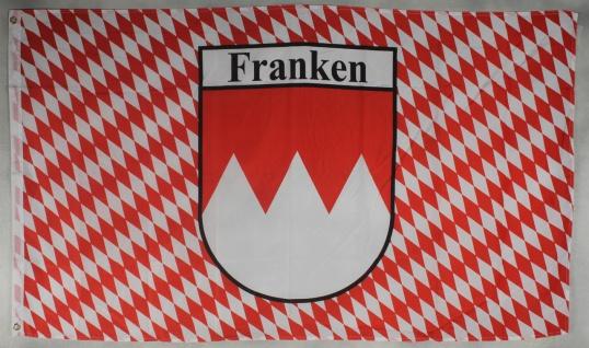 Flagge Fahne Franken mit Raute