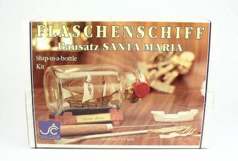 Buddelschiff - Bausatz Santa Maria 250 ml