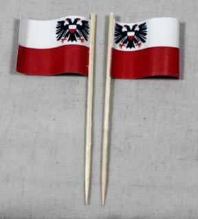 Party-Picker Flagge Lübeck Papierfähnchen in Spitzenqualität 50 Stück Beutel