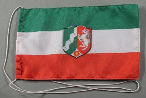 Tischflagge Nordrhein Westfalen NRW 25x15 cm optional mit Holz- oder Chromstä...