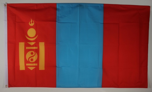 Flagge Fahne : Mongolei Nationalflagge Nationalfahne