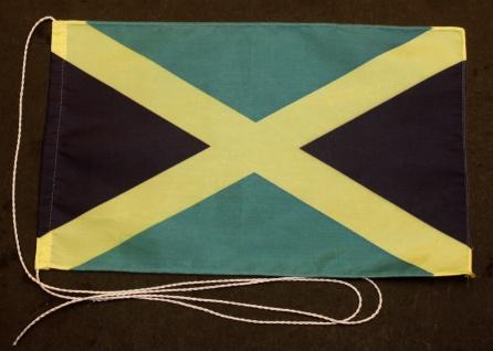 Tischflagge Jamaika 25x15 cm optional mit Holz- oder Chromständer Tischfahne ...