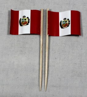 Party-Picker Flagge Peru Papierfähnchen in Spitzenqualität 50 Stück Beutel