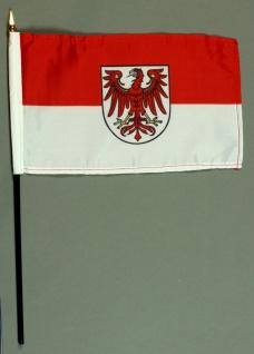 Tischflagge Brandenburg 15x25 cm BASIC optional mit Tischflaggenständer