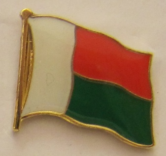 Madagaskar Pin Anstecker Flagge Fahne Nationalflagge