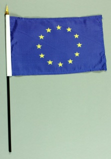 Tischflagge Europa Europaflagge 15x25 cm BASIC optional mit Tischflaggenständer