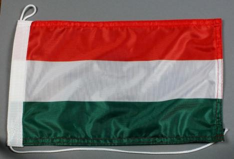 Bootsflagge : Ungarn 30x20 cm Motorradflagge