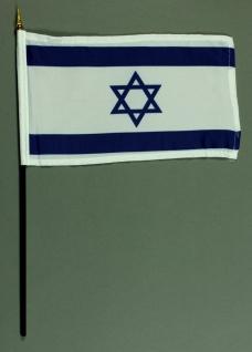 Tischflagge Israel 15x25 cm BASIC optional mit Tischflaggenständer