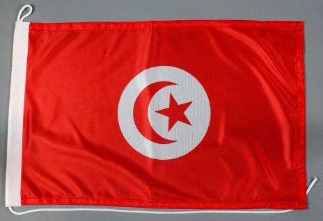Bootsflagge Tunesien 30x45 cm Motorradflagge Bootsfahne