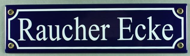 Strassenschild Raucher Ecke 30x8 cm Email Strassen Schild Emaille