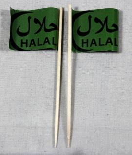 Party-Picker Flagge Halal arabisch Papierfähnchen in Spitzenqualität 50 Stück...
