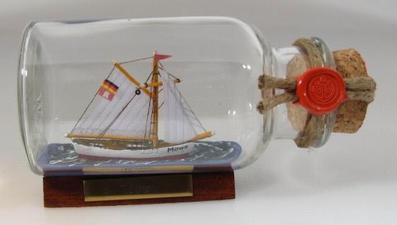 Möwe rundes Gewürzglas 0, 25 Liter Buddelschiff Flaschenschiff
