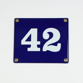 42 blau Clarendon ohne Rahmen 14x12 cm sofort lieferbar 2-stellig Schild Emai...