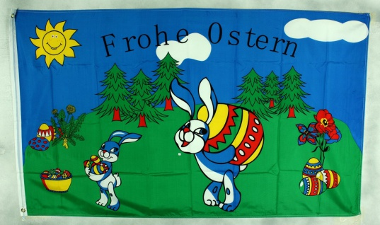 Flagge Fahne Frohe Ostern 90x60 cm