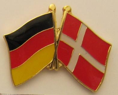 Dänemark / Deutschland Freundschafts Pin Anstecker Flagge Fahne Nationalflagge