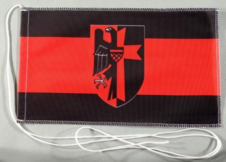 Tischflagge Sudetenland 25x15 cm optional mit Holz- oder Chromständer Tischfa...