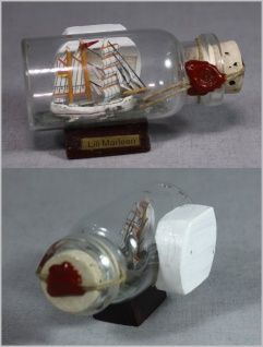 Buddelschiff Lili Marleen 5x2 cm Kühlschrankmagnet mit 10x3 mm Neodym Magnet ...