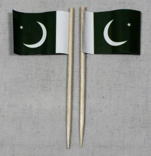 Party-Picker Flagge Pakistan Papierfähnchen in Spitzenqualität 50 Stück Beutel